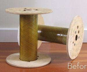 Before and After: Upholstering a Spool