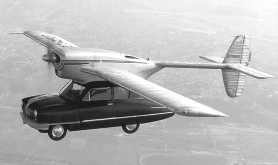 First Flying car prototype - 1948 ConvAir  Car.  Was created in expectation that such flying cars would have a consumer market during post ww ii civil air boom.