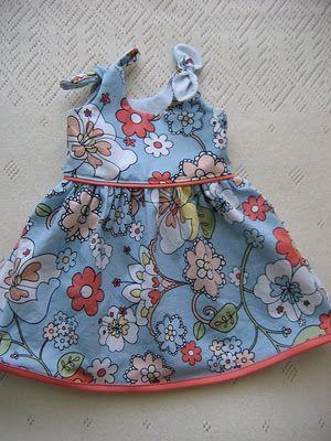 free itty bitty baby dress pattern