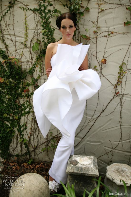 Givenchy Couture... very unusual wedding gown reminds you of a flower