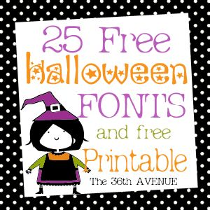 FREE Halloween Printables & Fonts~