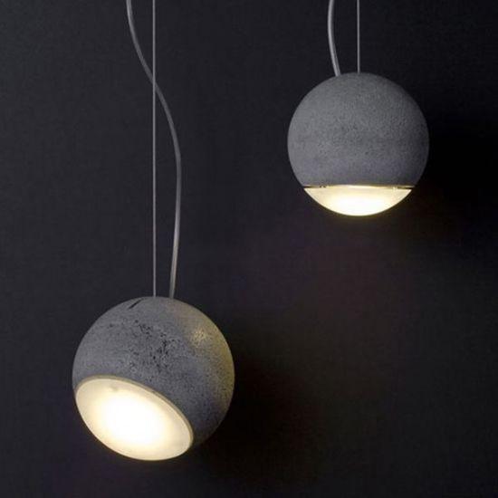 #interior #decor #styling #pendant #lamp #industrial #concrete