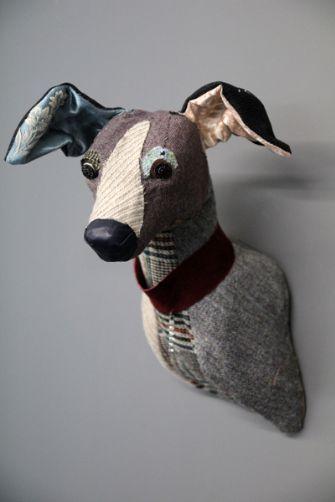 Whippet Head by Carola Van Dyke