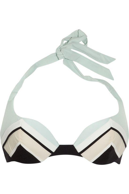 Carine GilsonHalterneck molded underwired bikini top