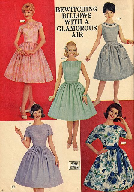 Bewitching billows with a glamorous air! #vintage #1960s #fashion #dress