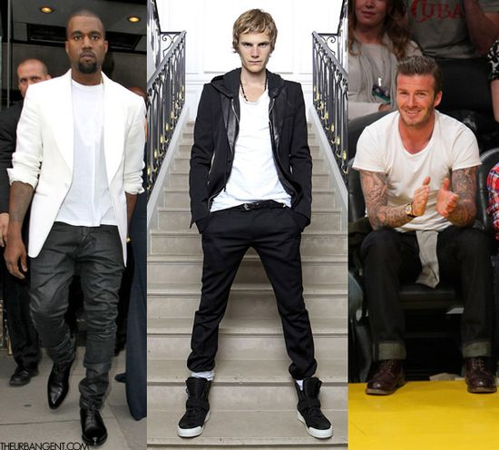 Summer 2013 Trend: white tee shirt on black slacks. simple and affordable