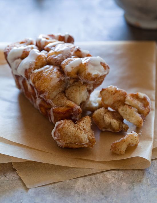 Cinnamon Sugar Messy Bread. A super #easy #breakfast (or #dessert) #recipe that uses pizza dough!