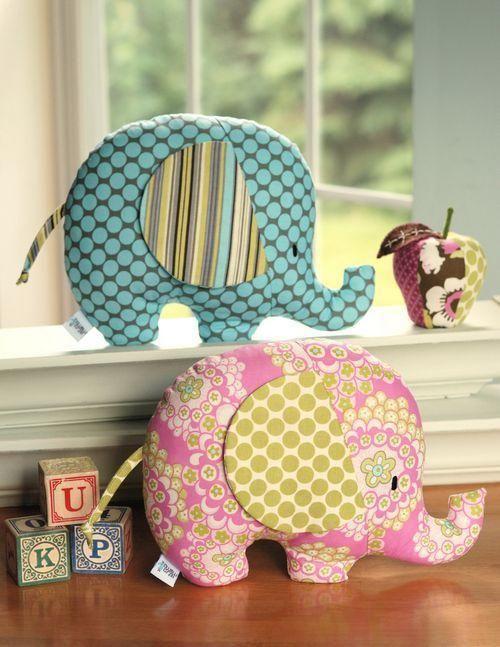 Quilted Stuffed Animal Elephants