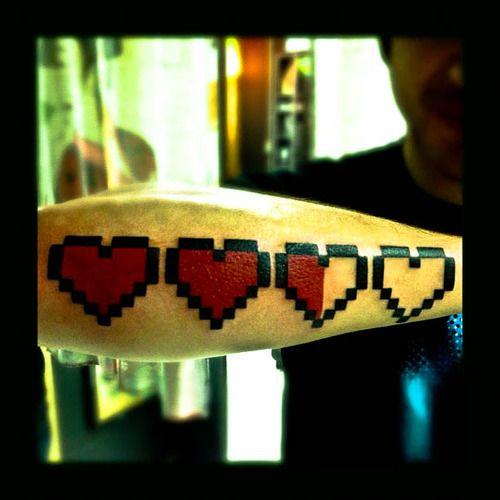 8bit life tattoo