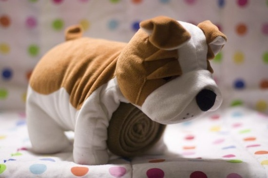 Dog Stuffed Animal and Blankets