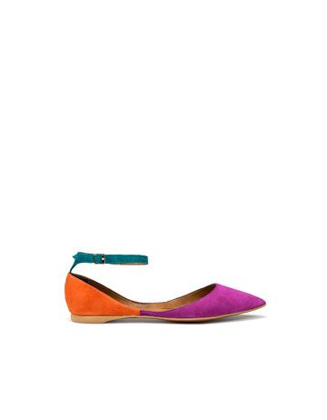 tri-colored flats from Zara