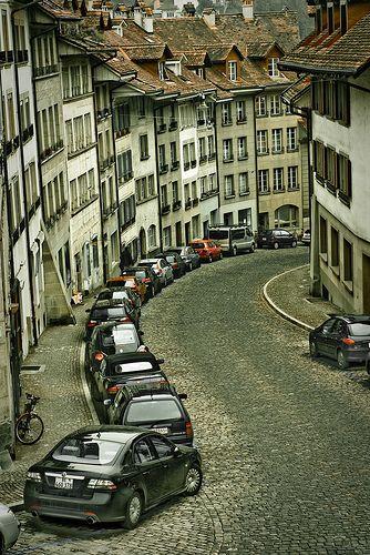 Winding streets, Bern, Switzerland