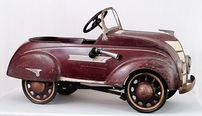 Vintage 1937 Steelcraft Luxury Edition Chrysler Air Flow Pedal Car - as a child I wanted a pedal car, I still do.