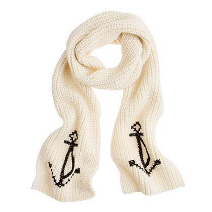 Anchor scarf.