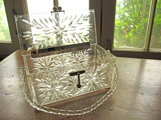 Vintage clear Lucite purse 1950s handbag