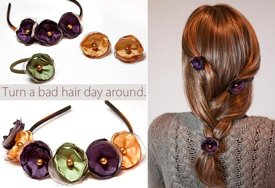 These are DIY hair pins, they are adorable!