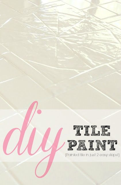 How to paint your outdated tile in only 2 steps! This is great!