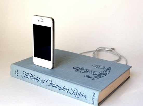It's a book...but an iPhone charger.