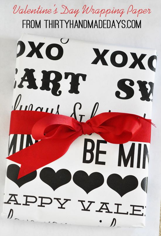 Valentine's Day Wrapping Paper