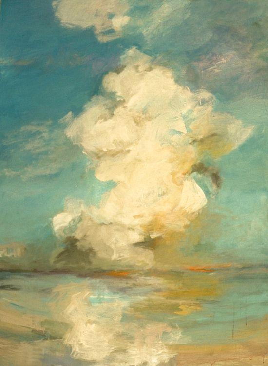 """Saatchi Online Artist: Teresa Cline; Acrylic, Painting """"Ocean Moods twenty one"""""""