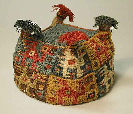 Four-Cornered Hat, Peru, 7th-9th century, camelid hair