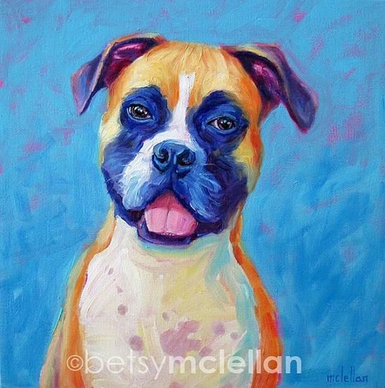 Custom Dog Portrait Deposit by betsymclellanstudio, $25.00