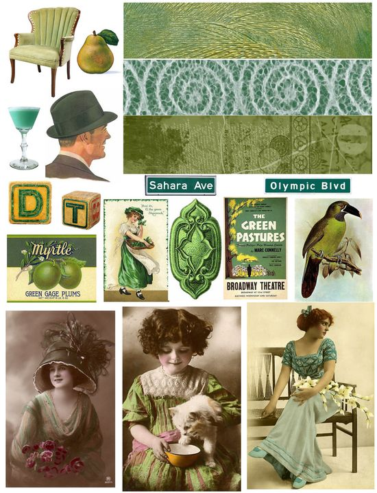 FREE Vintage collage sheets