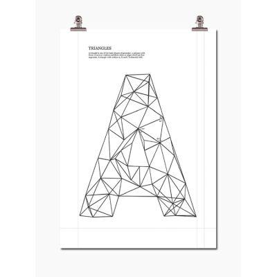 Triangel A poster i gruppen Tavlor & Posters / Bokstäver hos RUM21 AB (113243)