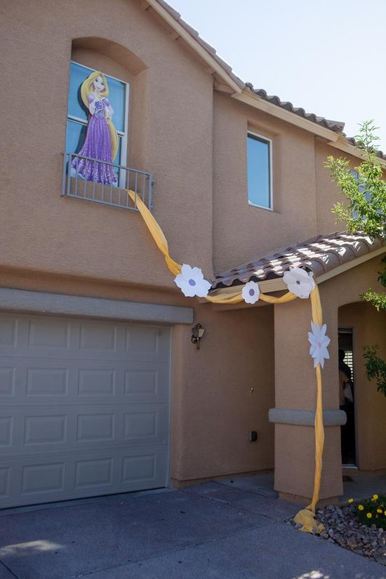 """Tangled"" Birthday Party with Lots of Cute Ideas via Kara's Party Ideas KarasPartyIdeas.com #Rapunzel #Disney #Party #Ideas #Supplies"