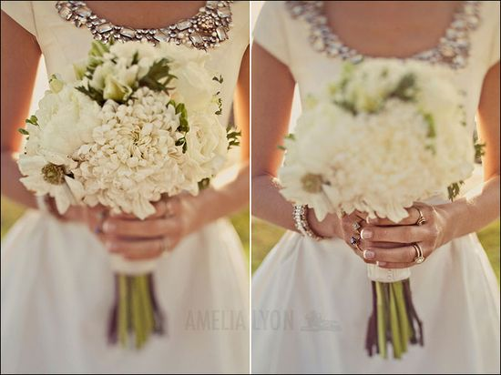 Modest wedding dress that sparkles