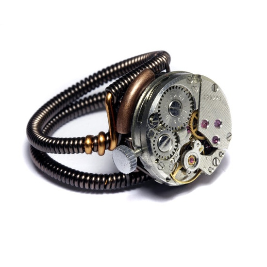 Steampunk Ring - Antique Vintage Watch Movement - SIZE 9.5 ONLY