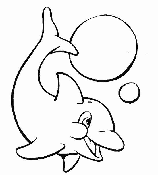 Dolphin at Play Wild Animal Coloring Pages