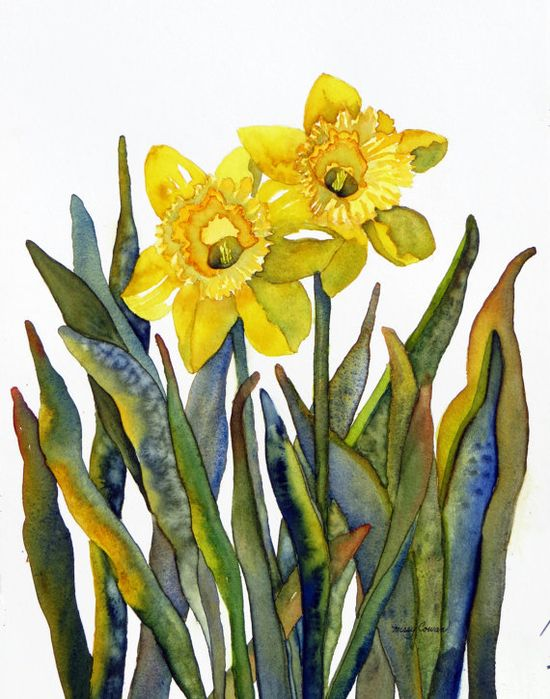 DAFFODIL DUO - Original  Watercolor Painting