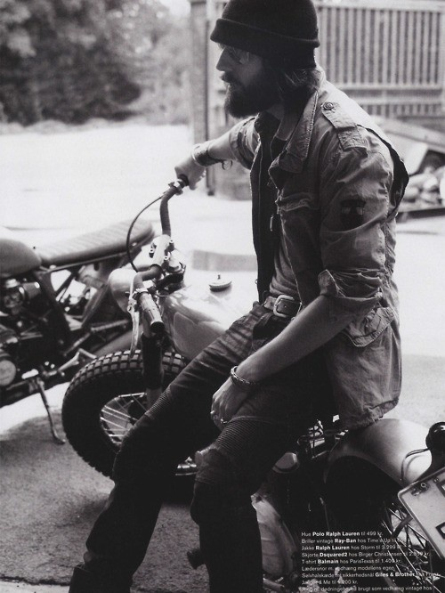 Beard optional. Motorcycle a must.