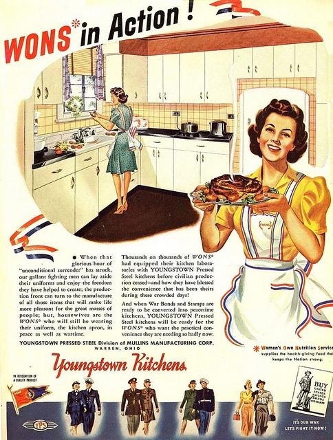 WONS (Women's Own Nutrition Service) in action! #WW2 #vintage #propaganda #ad #food #1940s #homemaker