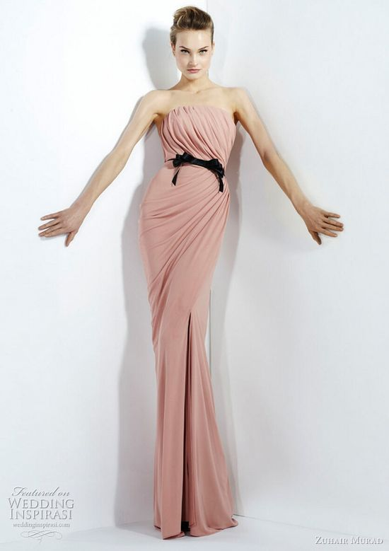 From the Zuhair Murad Fall/Winter 2011 ready-to-wear collection...fabulous pink gown with draped bodice.