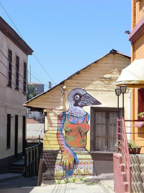 Graffiti in Atahualpa, Valparaíso, Chile by Kjetilei, via Flickr