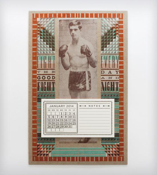 The Good Fight 2014 Letterpress Calendar