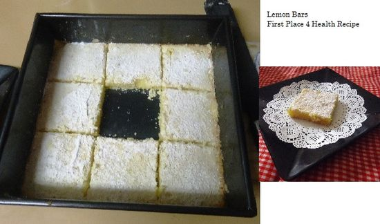 First Place 4 Health Dessert/Snack: Lemon Bars *These are very nice and would make a great party plate