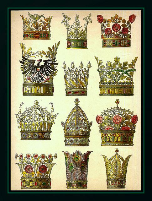THE 12 CROWNS (Art Nouveau decorative models by A. Seder