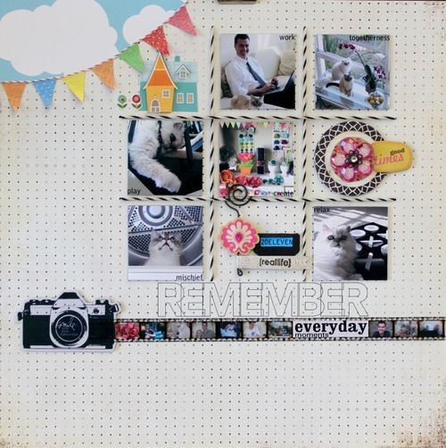 Inspired by Amy Tangerine's Studio Calico layout.