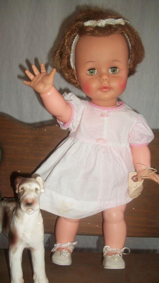 Vintage Ideal Kissy Doll 1960s  Still enjoying this doll