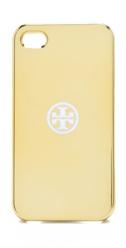 metallic iphone case / tory burch