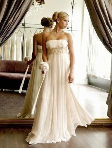 Grecian wedding dress.  Love love love this bridal gown - perfect for either a Grecian or a boho chic look.