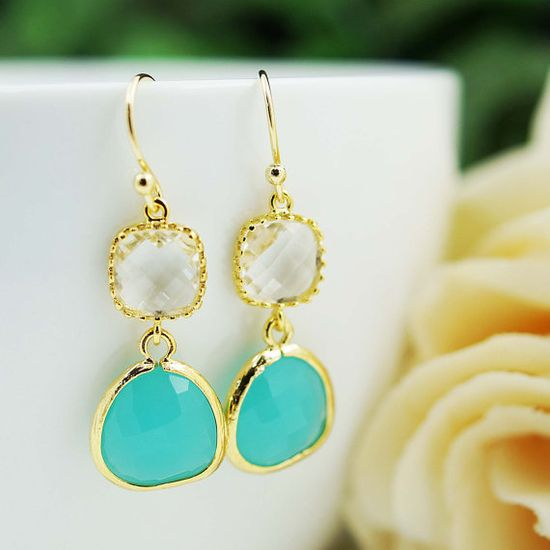 Wedding Jewelry Bridesmaid gift Bridesmaid by earringsnation, $23.80