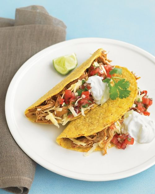 Slow-Cooker Chili Chicken Tacos Recipe