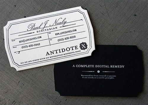 Antidote X business card