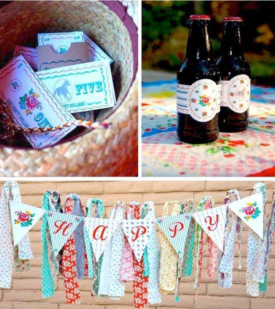 Prairie Rose Cowgirl Party with So Many Cute Ideas via Kara's Party Ideas