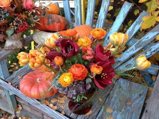 Fleurie Flowers by L Garza Thanksgiving Flower Arrangement