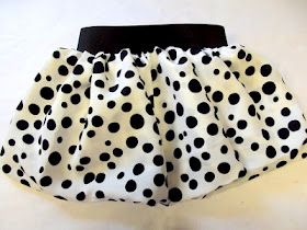 Have you ever made a bubble skirt? You should, easiest thing ever, and little girls love them!       Start with two strips of fabric 2 or 3 times the width you actually need, and about twice the length you need. Sew it up the side so it's a big tube.